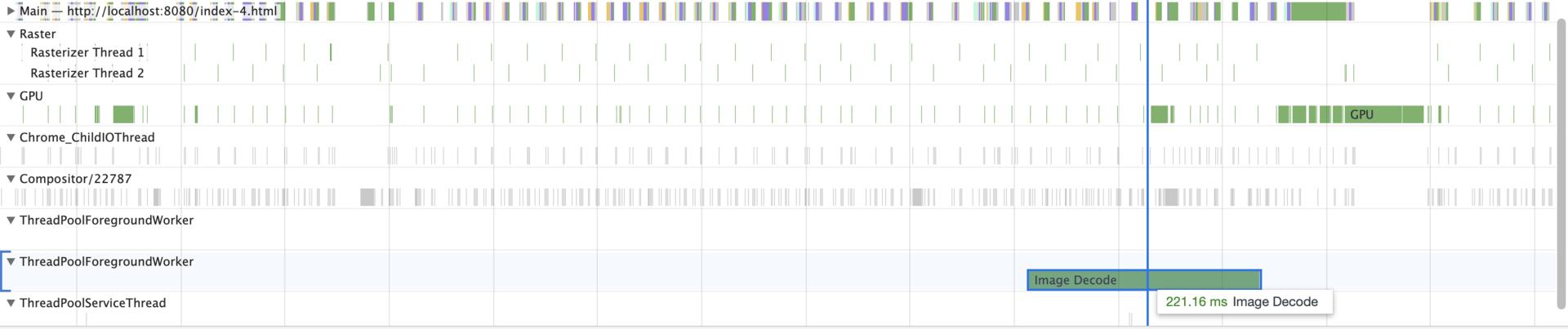 Chrome Sample Timing